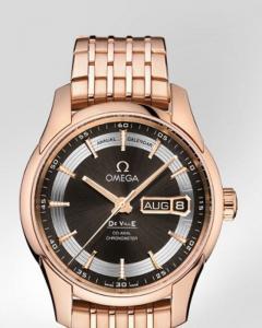 Omega De Ville Hour Vision Annual Calendar r ref. 431.60.41.22.13.001 con cassa in oro rosso 18ct