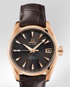 Omega Seamaster Aqua Terra a Mid Siza Chronometer ref.231.53.39.21.06.001 con cassa in oro rosso