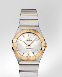Omega Constellation n Brushed quartz ref.123.20.27.60.02.002 con cassa in acciaio e oro giallo 18ct
