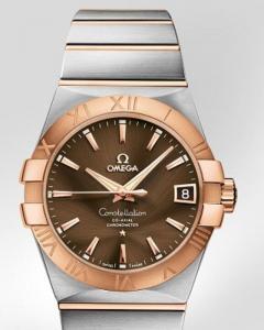 Omega Constellation n Chronometer 38mm ref.123.20.38.21.13.001 con cassa in acciaio e oro rosso 18ct