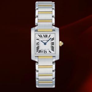 Cartier Tank Francaise E ACCIAIO E ORO GIALLO 18Kt SMALL SIZE REF. W51007Q4