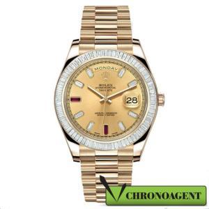 Rolex Oyster Perpetual Day-Date II I ref. 218398BR con cassa in oro giallo 18ct