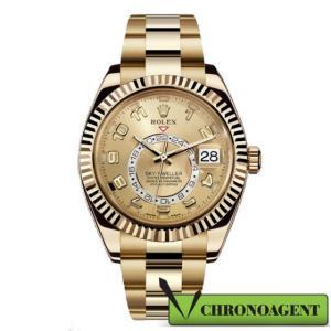 Rolex Oyster Perpetual l Sky-Dwellwer con cassa in oro giallo 18ct