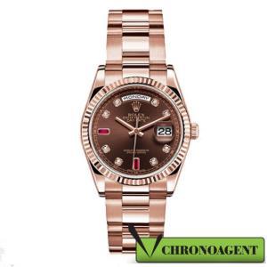 Rolex Oyster Perpetual l Day-Date ref. 118235 con cassa in oro rosa 18 ct