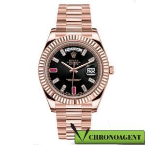 Rolex Oyster Perpetual Day-Date II I ref. 218235 con quadrante in oro rosa 18ct