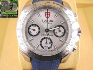 Tudor Chronograph h referenza 20300 acciaio e caucciu blu con chiusura acciaio deployante