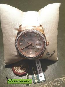 Rolex Oyster Perpetual Datejust t ref. 116185 con cassa in oro rosa 18ct