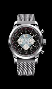 Breitling Transocean Chronograph Unitime novo ed imballato con cassa in acciaio