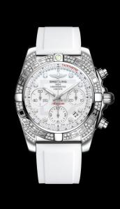 Breitling Chronomat 41 Diamondwords nuovo ed imballato con cassa in acciaio con diamanti