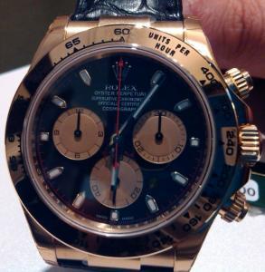 Rolex Daytona a Newman Dial nero ref.116518 Oro Giallo 18 kt Nuovo ed Imballato