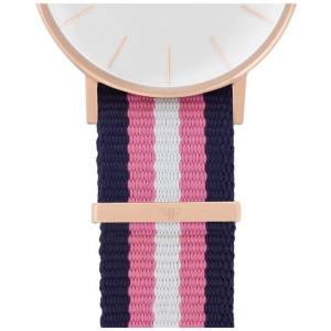 FABER Natoarmband-Textilarmband blau-rosa-weiß 18 mm FS109RG