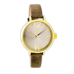 OOZOO-TIMEPIECES OOZOO  L taupe-gold C7657