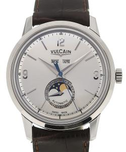 Vulcain 50s Presidents&#039  Moonphase 42 Silver-toned Dial