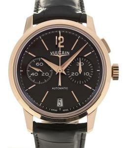 Vulcain 50s Presidents&#039  Chronograph 42 Pink Gold Charcoal