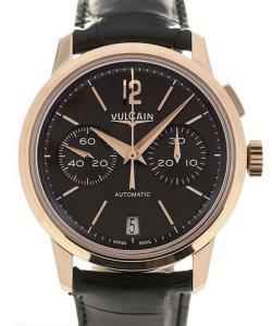 Vulcain 50s Presidents'  Chronograph 42 Pink Gold Charcoal