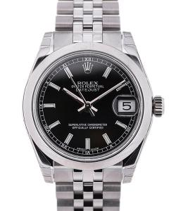 Rolex Oyster Perpetual Datejust Lady 31 Black Dial Jubilé