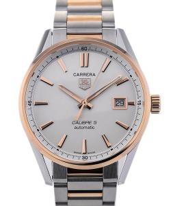 TAG Heuer Carrera Automatic 39 Stainless Steel Rose Gold Details