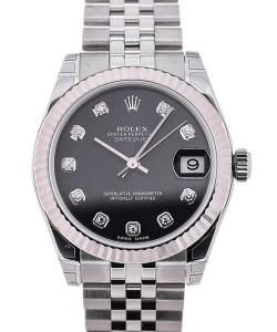 Rolex Oyster Perpetual Datejust Lady 31 Diamonds Black Dial
