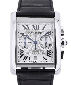 Cartier Tank MC Chronograph Automatic Silver Guilloche