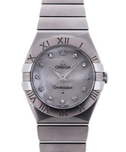 Omega Constellation Quartz 27 White MoP Diamond Dial