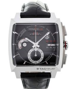 TAG Heuer Monaco LS Automatic Chronograph 40,5 Black Dial Red Details