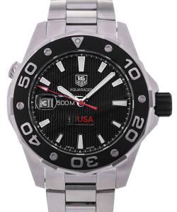 TAG Heuer Aquaracer Oracle Team USA Limited Edition Automatic Black Dial