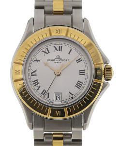 Baume & Mercier Linea 35 Silver Dial Yellow Gold Ladies Quartz