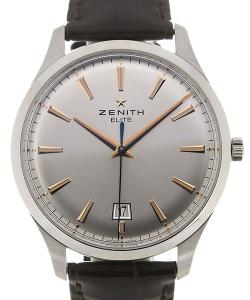 Zenith Elite 40 Silver Dial Central Second