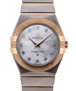 Omega Constellation Quartz 27 MoP Diamonds