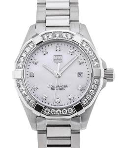 TAG Heuer Aquaracer Lady Quartz 27 Mother of Pearl Dial Full Diamond