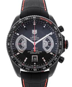 TAG Heuer Grand Carrera Automatic Chronograph Black Dial Red Details