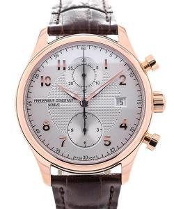 Frederique Constant Runabout Chronograph 42 Silver Dial Guilloche L.E.