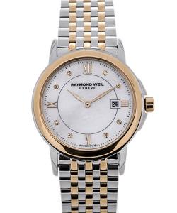 Raymond Weil Tradition Stainless Steel Yellow Gold Mother of Pearl Dial