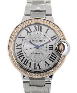 Cartier Ballon Bleu 33 Steel Gold Bezel Automatic