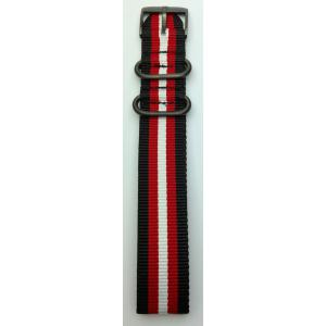 Luminox 3950 Serie Natoband schwarz/rot/weiß