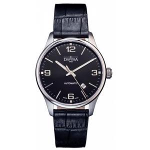 Davosa Gentleman Automatikuhr mit Lederband Schwarz 161.510.54
