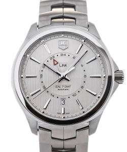 TAG Heuer Link GMT Automatic 42 Stainless Steel Silver Dial Guilloche