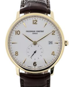 Frederique Constant Slim Line 38 Quartz Brown Leather