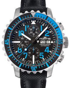 Fortis Aquatis 42 Marinemaster Blue Chronograph