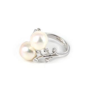 Schoeffel Damenring Weißgold Perlen 23382