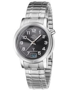 Master Time MTLA-10309-22M Damen-Funkuhr mit Zugband