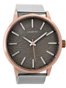 Oozoo C9232 Herrenuhr Silber/Grau 49 mm