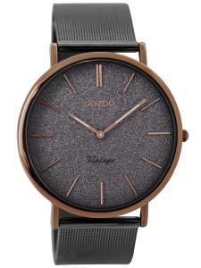 Oozoo C8861 Armbanduhr Vintage Elefantengrau 40 mm