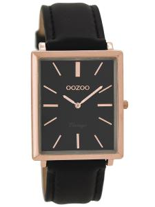 Oozoo C8189 Damenuhr Vintage Schwarz 31 x 37 mm