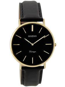 Oozoo C9301 Damenuhr Vintage Schwarz/Gold 36 mm