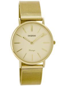 Oozoo C8876 Vintage Damen-Armbanduhr Goldfarben 32 mm