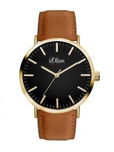 S.Oliver SO-3375-LQ Damen-Armbanduhr mit Lederband