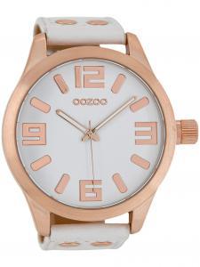 Oozoo C1100 XXL Herrenuhr Weiß/Roségold