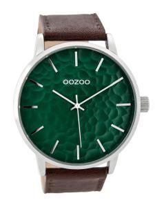 Oozoo C9441 Herrenuhr Braun/Monsteragrün 48 mm
