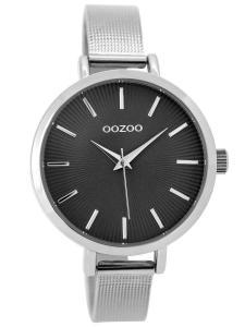 Oozoo C9492 Damenuhr mit Milanaiseband Silberfarben/Grau 38 mm